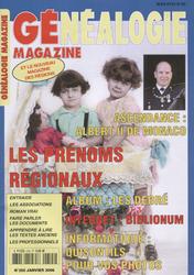 Généalogie Magazine N° 255 - Janvier 2006