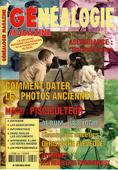 Généalogie Magazine n° 259 - mai 2006