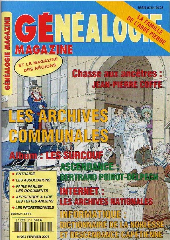 Généalogie Magazine n° 267 - février 2007