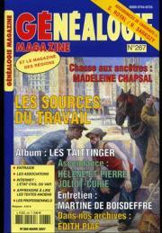 Généalogie Magazine n° 268 - Mars 2007