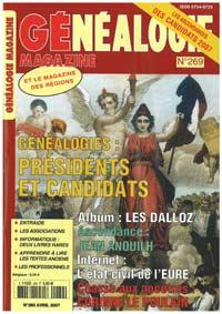 Généalogie Magazine n° 269 - Avril 2007