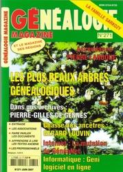 Généalogie Magazine n° 271 - Juin 2007
