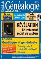 Généalogie Magazine N° 276 - Décembre 2007