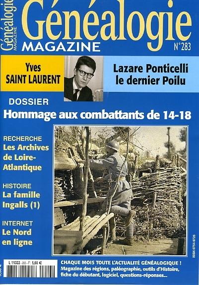 Généalogie Magazine n° 283