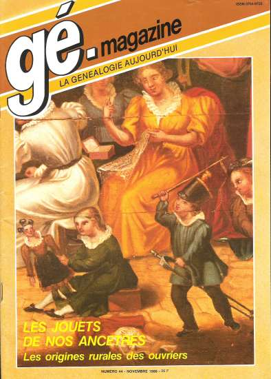 Généalogie Magazine n° 044 – octobre 1986