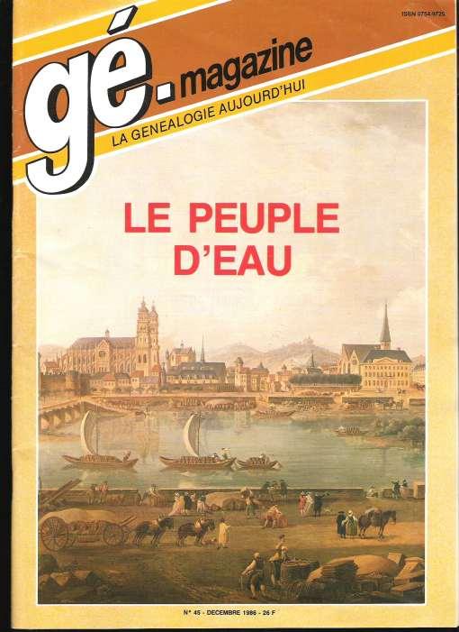 Généalogie Magazine n° 045 – novembre 1986
