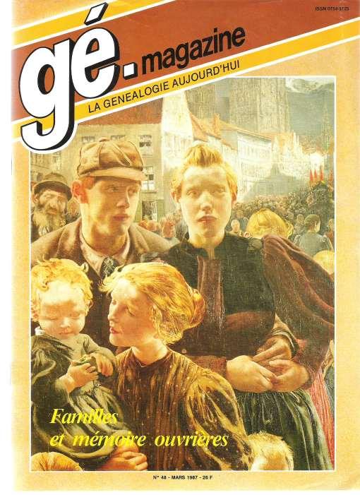Généalogie Magazine n° 048 – févier 1987